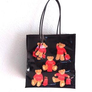 Avon teddy bear black small tote